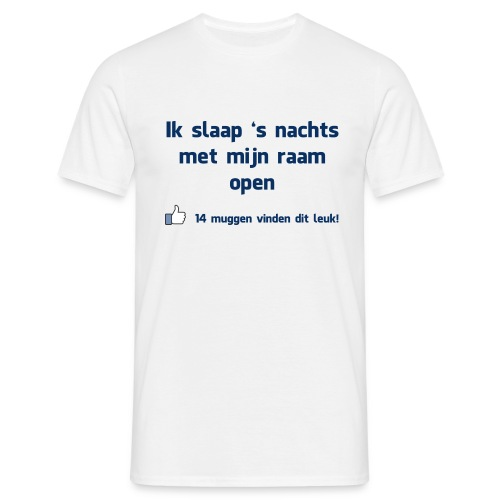 Funny T-shirt 'Ik slaap 's nachts met mijn raam open'  - Mannen T-shirt