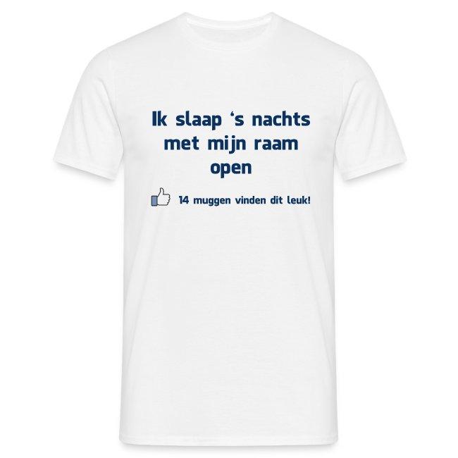 Funny T-shirt 'Ik slaap 's nachts met mijn raam open'