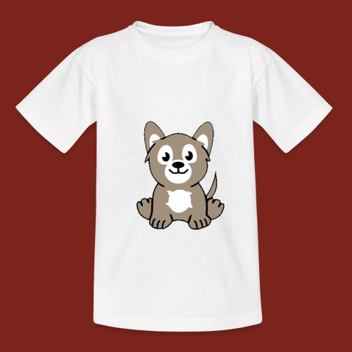 Teenager t-shirt cartoon wolf - Teenager T-shirt