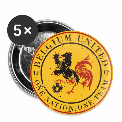 Buttons small 1''/25 mm (5-pack) - Go Belgium ! Euro 2016 is coming and it's time for you, supporter, to get the perfect equipment to support our Belgium Red Devils during their (long) journey in France...So let's dress in Belgium colors to show them the Belgium United Power