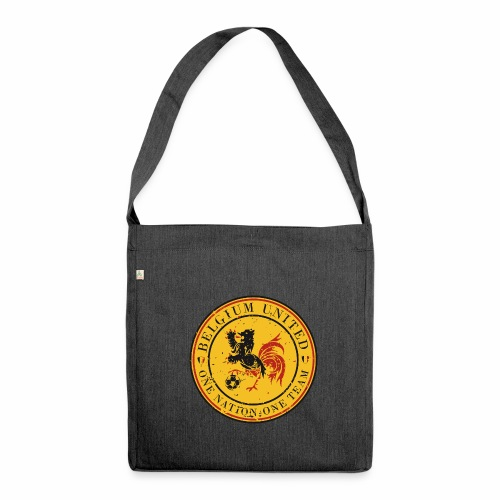 Shoulder Bag made from recycled material - Go Belgium ! Euro 2016 is coming and it's time for you, supporter, to get the perfect equipment to support our Belgium Red Devils during their (long) journey in France...So let's dress in Belgium colors to show them the Belgium United Power