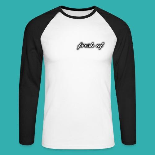 fresh af two colour long sleeved shirt - Men's Long Sleeve Baseball T-Shirt
