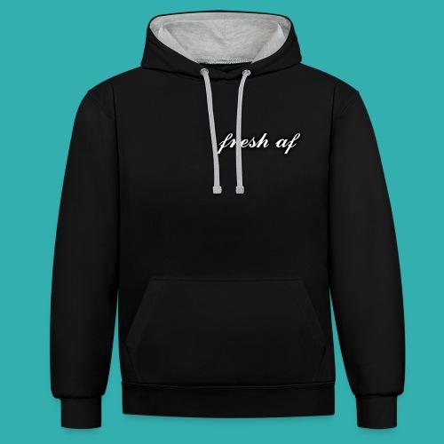 fresh af hoodie - Contrast Colour Hoodie