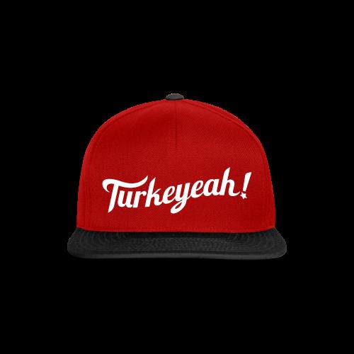 Turkeyeah! Wave Snapback Cap Red - Snapback Cap