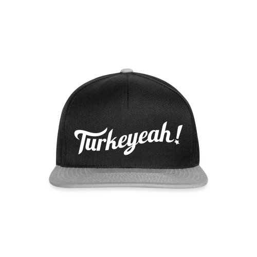 Turkeyeah! Wave Snapback Cap Black - Snapback Cap