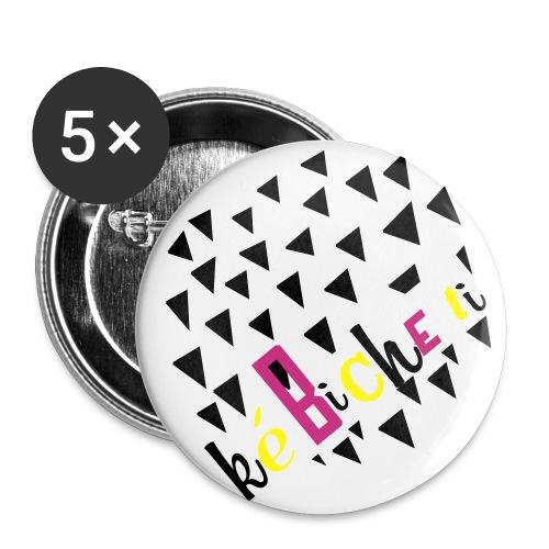 Badge 25 mm Ké BICHE TI - Lot de 5 petits badges (25 mm)