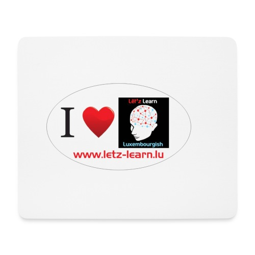 Mauspad I Love Let'z Learn Luxembourgish - Mousepad (Querformat)