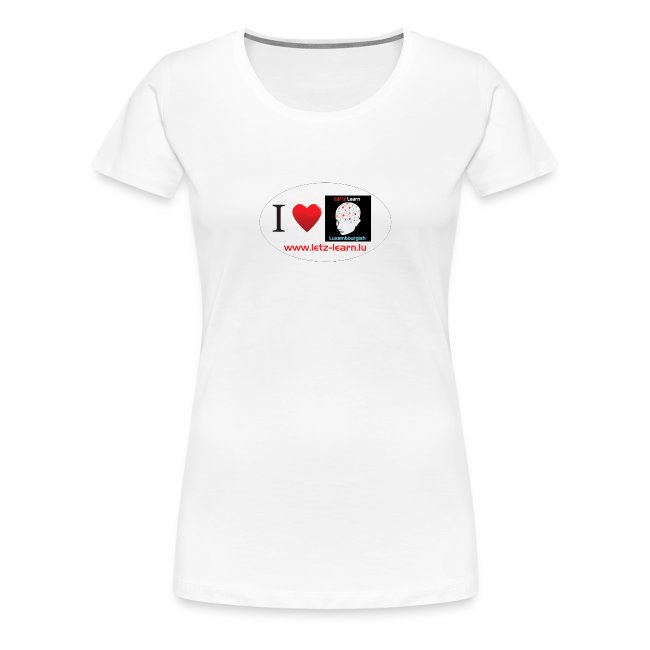 Ladies T-Shirt I love Lët'z learn Luxembourgish
