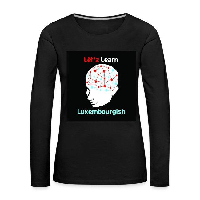Ladies Shirt mat laangen Äerm - Logo
