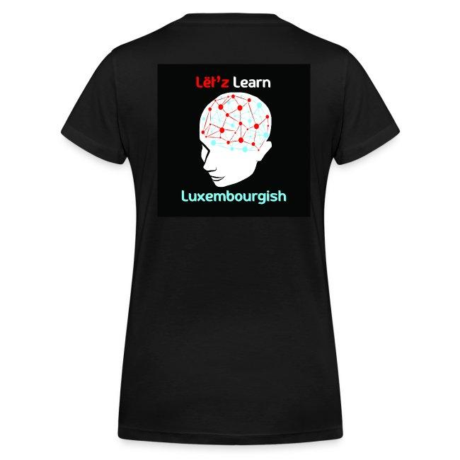 Ladies T-Shirt Logo mat V Ausschnëtt