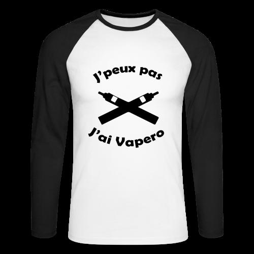 T-Shirt BaseBall ML - J'peux pas J'ai Vapéro - T-shirt baseball manches longues Homme