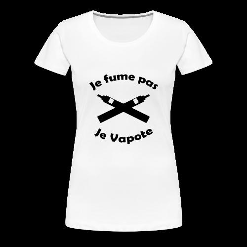 T-Shirt F - Je Fume pas Je Vapote - T-shirt Premium Femme