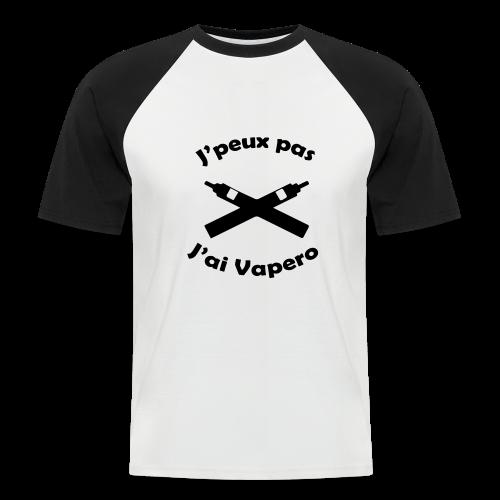 T-Shirt BaseBall - J'peux pas J'ai Vapéro - T-shirt baseball manches courtes Homme