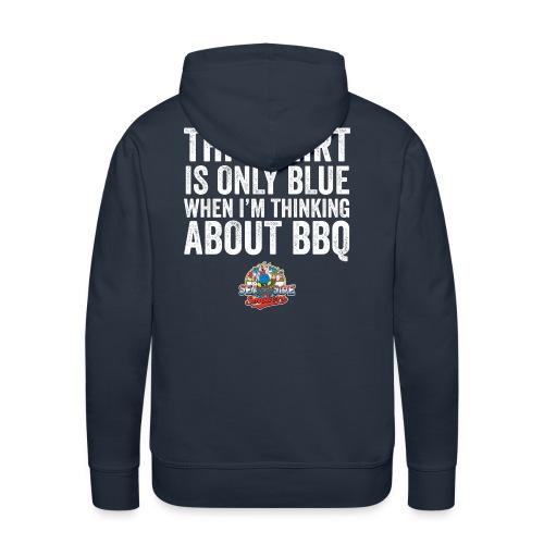 Thinking Blue Hoodie - Gents - Mannen Premium hoodie