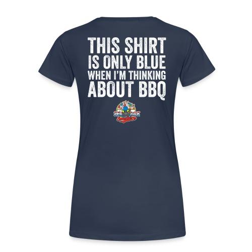 Thinking Blue T-Shirt - Ladies - Vrouwen Premium T-shirt