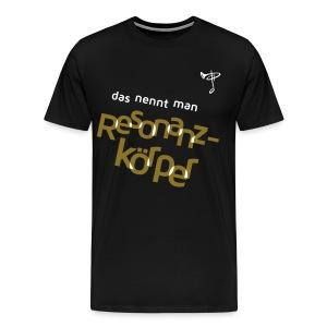 Auch in XXXXXL – Text Folie gold/weiß - Männer Premium T-Shirt