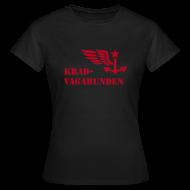 T-Shirts ~ Frauen T-Shirt ~ T-Shirt Damen - Krad-Vagabunden - roter Aufdruck