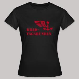 T-Shirt Damen - Krad-Vagabunden - roter Aufdruck - Frauen T-Shirt