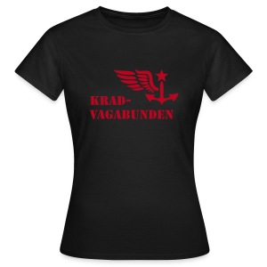 t-shirt - female - krad-vagabunden - red print - Women's T-Shirt