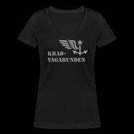 T-Shirts ~ Frauen T-Shirt mit V-Ausschnitt ~ V-Shirt -  Damen - Krad-Vagabunden - grauer Aufdruck