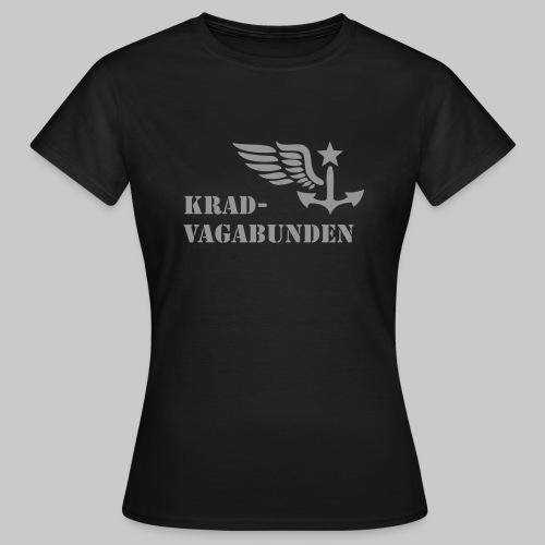 T-Shirt Damen - Krad-Vagabunden - grauer Aufdruck - Frauen T-Shirt