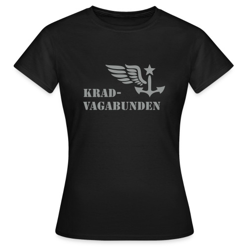 t-shirt - female - krad-vagabunden - grey print - Women's T-Shirt