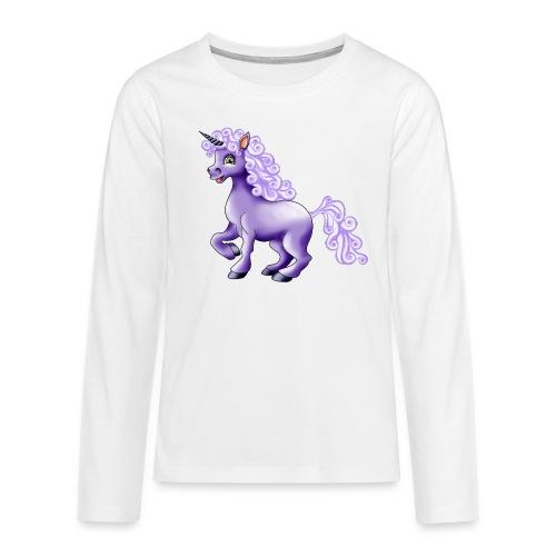 lila Einhorn - Teenager Premium Langarmshirt