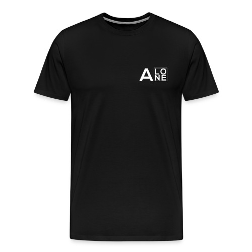 Alone Box Tee Black - Men's Premium T-Shirt