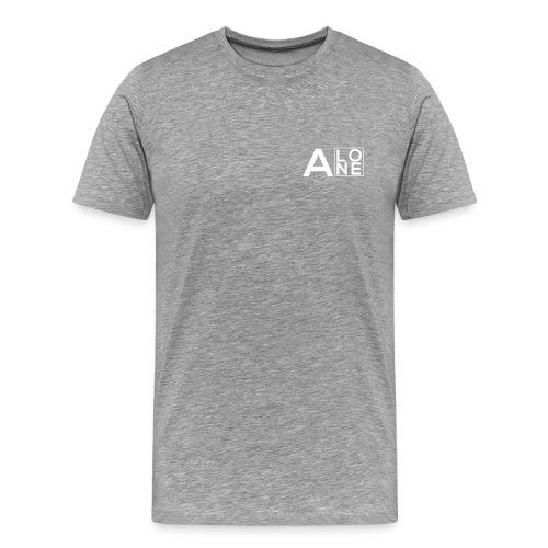 Alone Box Tee Grey - Men's Premium T-Shirt
