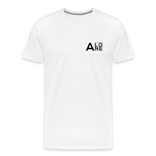 Alone Box Tee White - Men's Premium T-Shirt