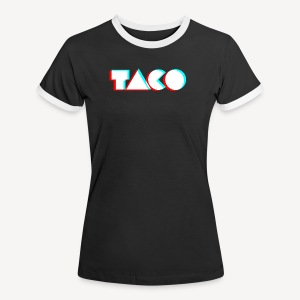 TACO Classic. Dames contrast t-shirt - Vrouwen contrastshirt
