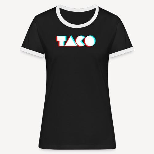 TACO Classic. Dames contrast t-shirt - Vrouwen contrastshirt