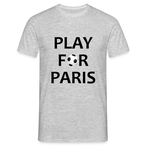 Football Shirt Play for Paris grey - Men's T-Shirt