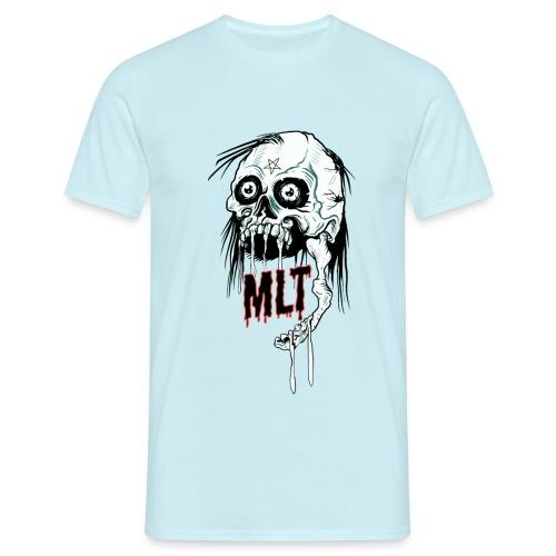 MELT Men's T-Shirt SKULL REIGN Light Blue - Männer T-Shirt
