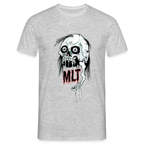 MELT Men's T-Shirt SKULL REIGN Light Grey - Männer T-Shirt