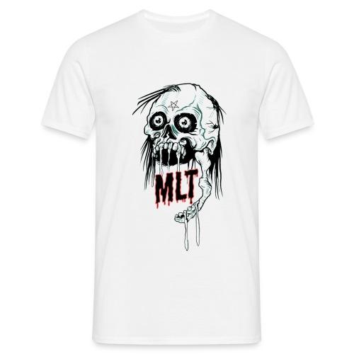 MELT Men's T-Shirt SKULL REIGN White - Männer T-Shirt