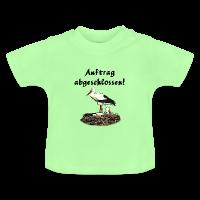Klapperstorch Baby Geburt/Taufe Bio T-Shirt