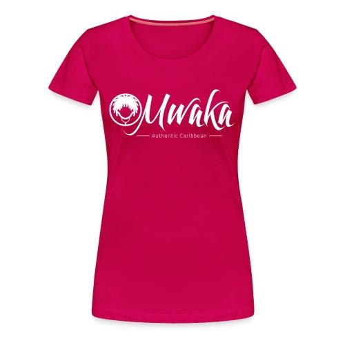 T-Shirt Femme MWAKA Logo Blanc - T-shirt Premium Femme