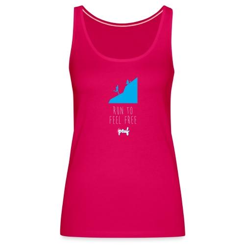 Girl • Run to feel free - Women's Premium Tank Top