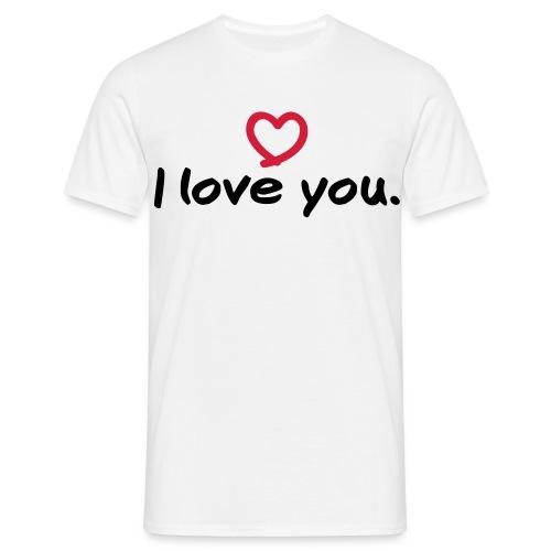 I love you T-Shirt - Männer T-Shirt