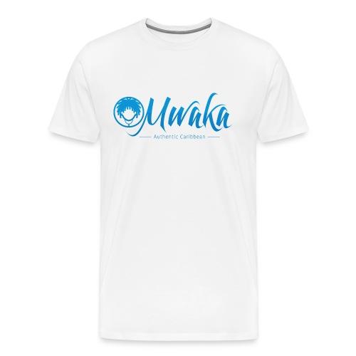 T-Shirt Homme MWAKA Logo Bleue - T-shirt Premium Homme