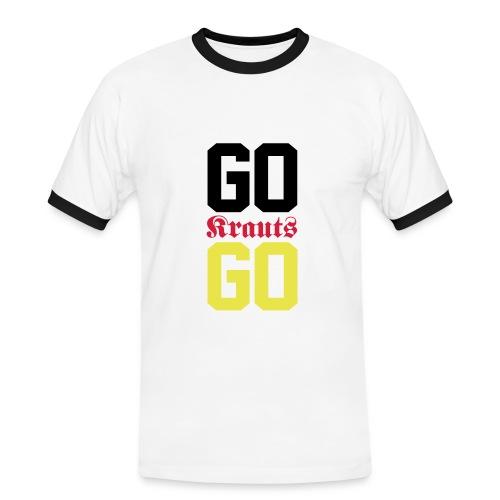 Go Krauts Go - Männer Kontrast-T-Shirt