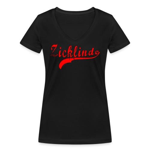 Zicklinde (rot) | T-Shirt V-Ausschnitt - Frauen Bio-T-Shirt mit V-Ausschnitt von Stanley & Stella