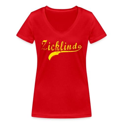 Zicklinde (gelb) | T-Shirt V-Ausschnitt - Frauen Bio-T-Shirt mit V-Ausschnitt von Stanley & Stella