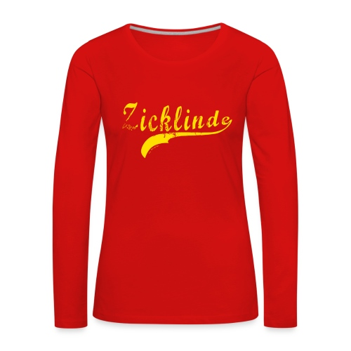 Zicklinde (gelb) | Langarm Shirt - Frauen Premium Langarmshirt