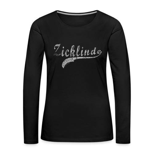 Zicklinde (vintage) | Langarm Shirt - Frauen Premium Langarmshirt