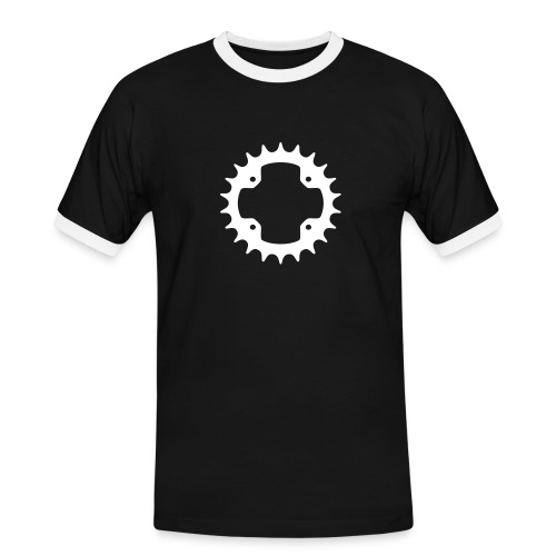 Black & White Chainring Men's Shirt - Men's Ringer Shirt