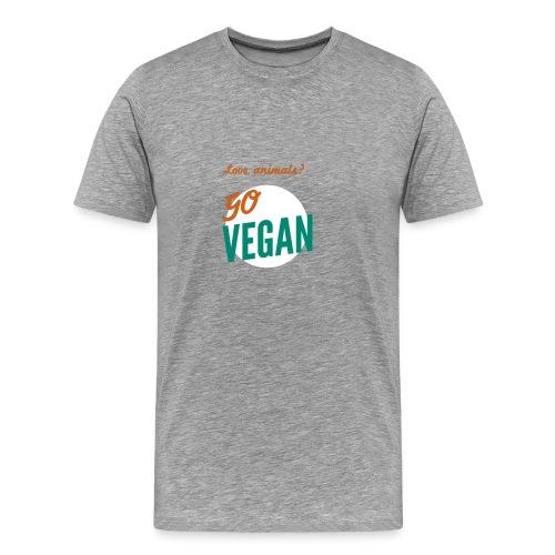 VeganforAnimals Men Grey - Mannen Premium T-shirt