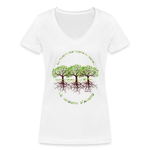T-Shirt femme le Qi Gong d'Abord, col V - T-shirt bio col V Stanley & Stella Femme