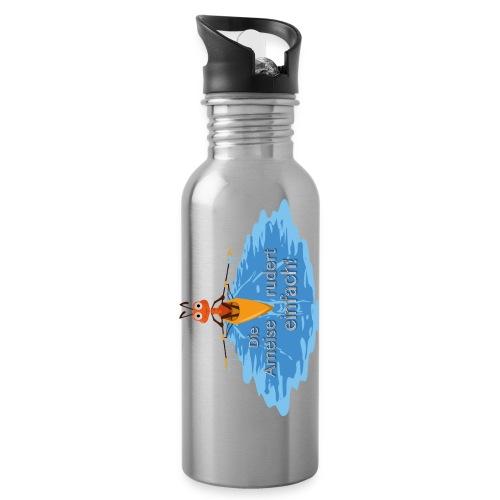 Trinkflasche, alu oder weiß - Trinkflasche